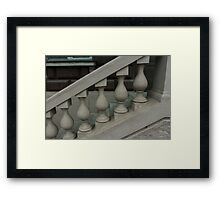 staircase with balusters Framed Print