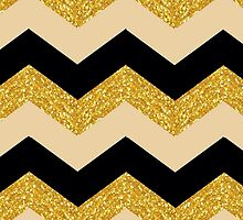 Black and Gold Chevron by astraeanm