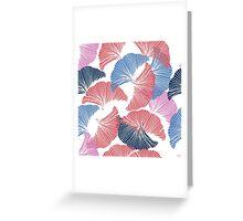 Сolorful seamless pattern. Hand drawn leaf of Ginkgo Biloba. Greeting Card