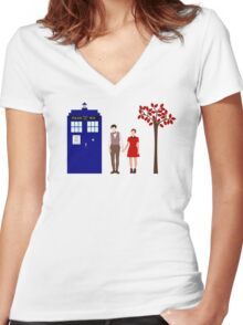 Clara and Eleven Women's Fitted V-Neck T-Shirt
