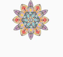 Colored 12 rays mandala Womens Fitted T-Shirt