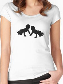 Babies twins Women's Fitted Scoop T-Shirt