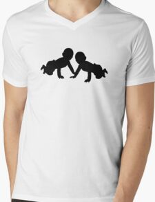 Babies twins Mens V-Neck T-Shirt