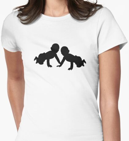 Babies twins Womens Fitted T-Shirt