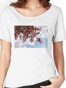 Japanese Maple Red Lace - Horizontal View Downwards Right Women's Relaxed Fit T-Shirt