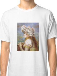 Renoir Auguste - Girl In A Lace Hat 1891 Classic T-Shirt
