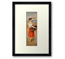 Renoir Auguste - Girl With A Basket Of Fish Framed Print