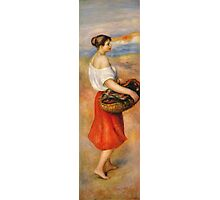 Renoir Auguste - Girl With A Basket Of Fish Photographic Print