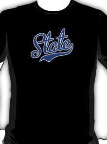 Blue State Script T-Shirt