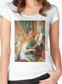 Renoir Auguste - Girls At The Piano 1892 Women's Fitted Scoop T-Shirt