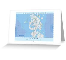Map of Marilyn Monroe - Famous Maps Greeting Card
