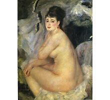 Renoir Auguste - Nude Seated On A Sofa 1876 Photographic Print
