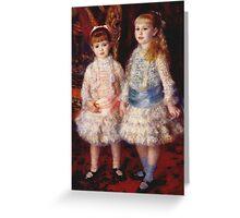 Renoir Auguste - Pink And Blue 1881 Greeting Card