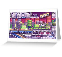 sonic the hedgehog - chemical plant zone Greeting Card