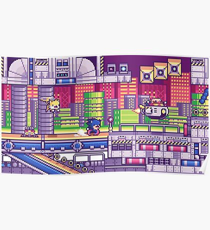 sonic the hedgehog - chemical plant zone Poster