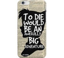 Peter Pan Vintage Dictionary Page Style -- To Die  iPhone Case/Skin