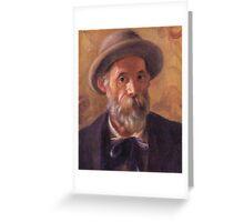 Renoir Auguste - Self Portrait 1899 Greeting Card
