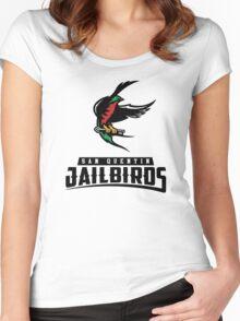 San Quentin Jailbirds Women's Fitted Scoop T-Shirt