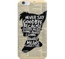 Peter Pan Vintage Dictionary Page Style -- Goodbye iPhone Case/Skin