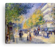 Renoir Auguste - The Great Boulevards 1875 Canvas Print