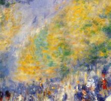 Renoir Auguste - The Great Boulevards 1875 Sticker