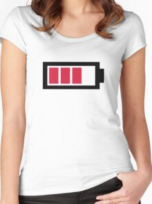 Battery symbol Women's Fitted Scoop T-Shirt