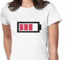 Battery symbol Womens Fitted T-Shirt