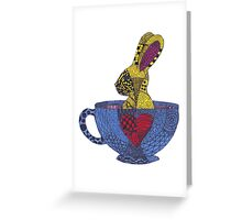 Tea Cup Bunny Greeting Card