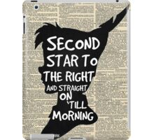 Peter Pan Vintage Dictionary Page Style -- Second Star iPad Case/Skin