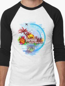 Tortola British Virgin Island Men's Baseball ¾ T-Shirt