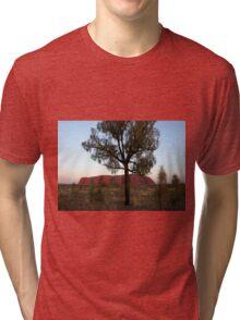 Uluru and the Tree Tri-blend T-Shirt