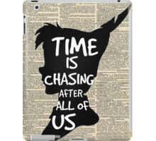 Peter Pan Vintage Dictionary Page Style -- Time iPad Case/Skin