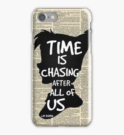 Peter Pan Vintage Dictionary Page Style -- Time iPhone Case/Skin