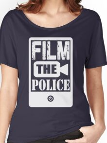 FILM THE POLICE (white) Women's Relaxed Fit T-Shirt