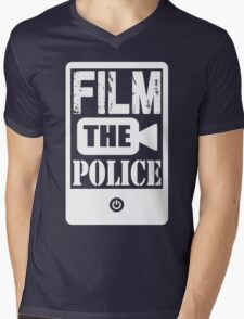 FILM THE POLICE (white) Mens V-Neck T-Shirt