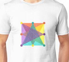 Crisscross Square Unisex T-Shirt