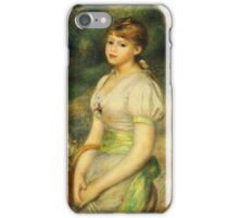 Renoir Auguste - Young Girl With A Basket Of Flowers 1888 iPhone Case/Skin