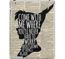 Peter Pan Vintage Dictionary Page Style -- Grown Up Things iPad Case/Skin