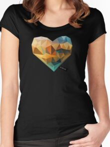 Vector Love 03 Women's Fitted Scoop T-Shirt