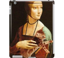 Lady with a Kitten iPad Case/Skin