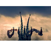 The Red Arrows Stormdance Photographic Print