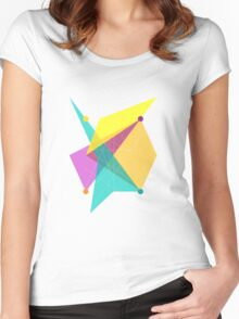 Abstract Rectangle Women's Fitted Scoop T-Shirt