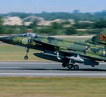 SAAB Viggen on Tiptoe by Colin Smedley
