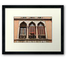 Triple Window Framed Print