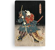 Utagawa Kunisada - An Actor In The Role Of Saitogo Kunitake  Canvas Print