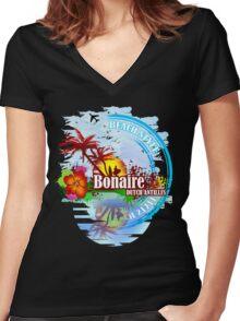 Bonaire Dutch Antilles Women's Fitted V-Neck T-Shirt