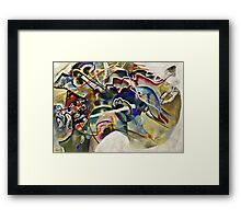 Vassily Kandinsky - Painting With White Border Moscow  Framed Print
