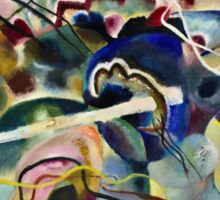Vassily Kandinsky - Painting With White Border Moscow  Sticker