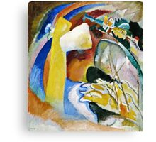 Vassily Kandinsky - Study For Painting With White Form1913  Canvas Print