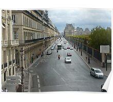 Street perspective - Rue de Rivoli - Paris Poster